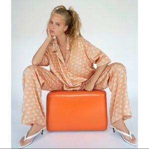 NWT Zara 2-Piece Printed Pajama Top and Pants Set